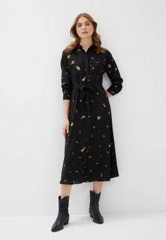 Платье, Only, цвет: черный. Артикул: ON380EWHSBG8. Одежда / Платья и сарафаны