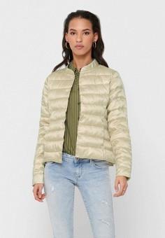 Куртка утепленная, Only, цвет: бежевый. Артикул: ON380EWHSCG8. Одежда / Верхняя одежда / Демисезонные куртки