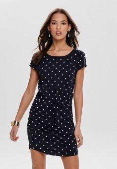 Платье, Only, цвет: черный. Артикул: ON380EWIDSQ4. Одежда / Платья и сарафаны