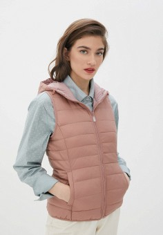 Жилет утепленный, Only, цвет: розовый. Артикул: ON380EWJNUS3. Одежда / Верхняя одежда / Жилеты