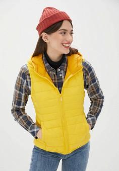 Жилет утепленный, Only, цвет: желтый. Артикул: ON380EWJNUS4. Одежда / Верхняя одежда / Жилеты