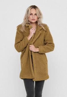 Шуба, Only, цвет: коричневый. Артикул: ON380EWJNUX3. Одежда / Верхняя одежда / Шубы и дубленки