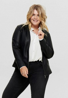 Куртка кожаная, Only, цвет: черный. Артикул: ON380EWJYNY6. Одежда / Верхняя одежда / Кожаные куртки