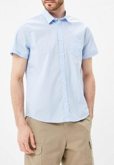 Рубашка, oodji, цвет: голубой. Артикул: OO001EMBKMH3.