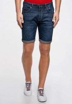 Шорты джинсовые, oodji, цвет: синий. Артикул: OO001EMBKMJ2.