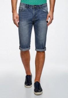 Шорты джинсовые, oodji, цвет: синий. Артикул: OO001EMBKMJ4.