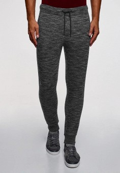 Брюки спортивные, oodji, цвет: серый. Артикул: OO001EMCOIQ7. Одежда / Брюки / Спортивные брюки