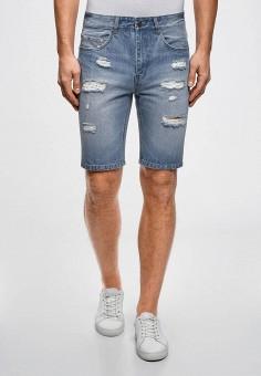Шорты джинсовые, oodji, цвет: голубой. Артикул: OO001EMCPVG9.