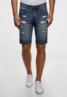 Шорты джинсовые, oodji, цвет: синий. Артикул: OO001EMCPVH0.