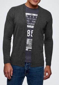 Кардиган, oodji, цвет: серый. Артикул: OO001EMCQAX2. Одежда / Джемперы, свитеры и кардиганы / Кардиганы