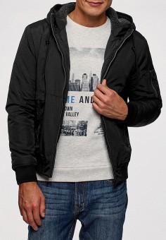 Куртка утепленная, oodji, цвет: черный. Артикул: OO001EMCSFZ0. Одежда / Верхняя одежда / Демисезонные куртки