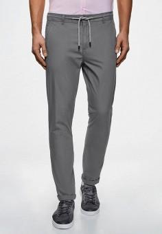 Брюки, oodji, цвет: серый. Артикул: OO001EMCSGA2. Одежда / Брюки / Повседневные брюки