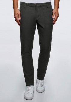 Брюки, oodji, цвет: серый. Артикул: OO001EMCSGA3. Одежда / Брюки / Повседневные брюки