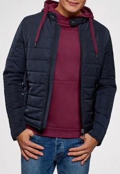 Куртка утепленная, oodji, цвет: синий. Артикул: OO001EMCWMQ1. Одежда / Верхняя одежда / Демисезонные куртки