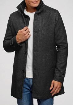 Пальто, oodji, цвет: серый. Артикул: OO001EMCWMQ2. Одежда / Верхняя одежда / Пальто