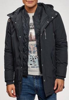 Куртка утепленная, oodji, цвет: синий. Артикул: OO001EMDNZZ9. Одежда / Верхняя одежда / Демисезонные куртки