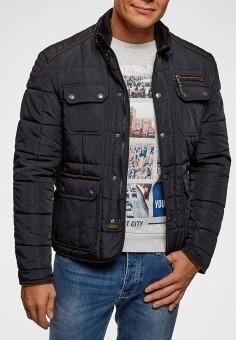 Куртка утепленная, oodji, цвет: синий. Артикул: OO001EMEAOU1. Одежда / Верхняя одежда / Демисезонные куртки