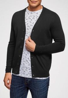 Кардиган, oodji, цвет: черный. Артикул: OO001EMEBID3. Одежда / Джемперы, свитеры и кардиганы / Кардиганы