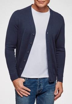 Кардиган, oodji, цвет: синий. Артикул: OO001EMEBID4. Одежда / Джемперы, свитеры и кардиганы / Кардиганы