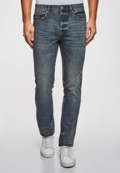 Джинсы, oodji, цвет: синий. Артикул: OO001EMEBUF5. Одежда / Джинсы / Зауженные джинсы