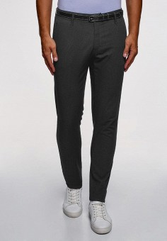 Брюки, oodji, цвет: серый. Артикул: OO001EMEJTZ8. Одежда / Брюки / Повседневные брюки