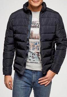 Куртка утепленная, oodji, цвет: синий. Артикул: OO001EMELAL5. Одежда / Верхняя одежда / Демисезонные куртки