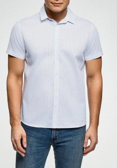 Рубашка, oodji, цвет: белый. Артикул: OO001EMEVBW0. Одежда / Рубашки