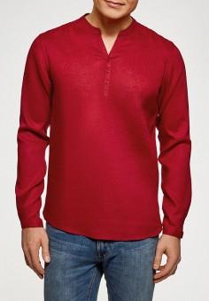 Рубашка, oodji, цвет: красный. Артикул: OO001EMEWMM7.