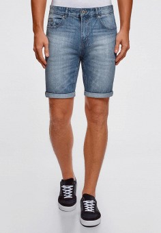 Шорты джинсовые, oodji, цвет: синий. Артикул: OO001EMFCZT2.