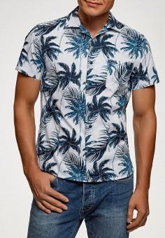 Рубашка, oodji, цвет: белый. Артикул: OO001EMFNSF3. Одежда / Рубашки