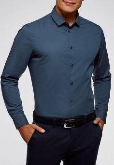 Рубашка, oodji, цвет: синий. Артикул: OO001EMFUKD7. Одежда / Рубашки