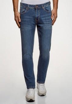 Джинсы, oodji, цвет: синий. Артикул: OO001EMFWAM9. Одежда / Джинсы / Прямые джинсы