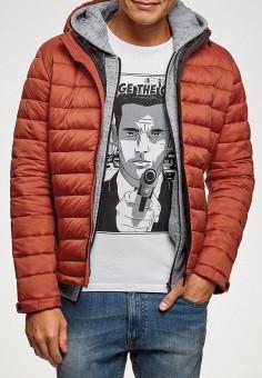 Куртка утепленная, oodji, цвет: оранжевый. Артикул: OO001EMFZYI4.