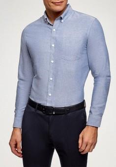 Рубашка, oodji, цвет: синий. Артикул: OO001EMGEXE1.