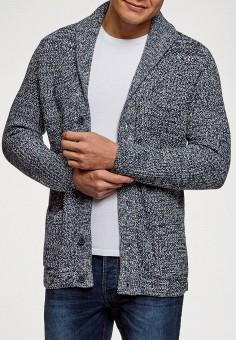 Кардиган, oodji, цвет: синий. Артикул: OO001EMGEXE4. Одежда / Джемперы, свитеры и кардиганы / Кардиганы
