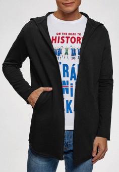 Кардиган, oodji, цвет: черный. Артикул: OO001EMGHPW8. Одежда / Джемперы, свитеры и кардиганы / Кардиганы