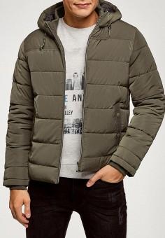 Куртка утепленная, oodji, цвет: хаки. Артикул: OO001EMGPNQ7. Одежда / Верхняя одежда / Демисезонные куртки