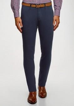 Брюки, oodji, цвет: синий. Артикул: OO001EMGPNR0. Одежда / Брюки / Повседневные брюки