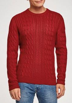 Джемпер, oodji, цвет: красный. Артикул: OO001EMHEAZ5. Одежда / Джемперы, свитеры и кардиганы / Джемперы и пуловеры