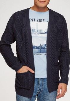 Кардиган, oodji, цвет: синий. Артикул: OO001EMHKKS8. Одежда / Джемперы, свитеры и кардиганы / Кардиганы