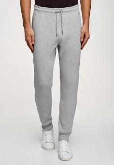 Брюки спортивные, oodji, цвет: серый. Артикул: OO001EMHKKS9. Одежда / Брюки / Спортивные брюки