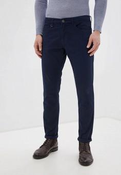 Брюки, oodji, цвет: синий. Артикул: OO001EMHNZK4. Одежда / Брюки / Повседневные брюки