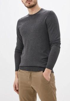 Джемпер, oodji, цвет: серый. Артикул: OO001EMHNZK5. Одежда / Джемперы, свитеры и кардиганы / Джемперы и пуловеры