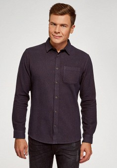 Рубашка, oodji, цвет: синий. Артикул: OO001EMIEMV2.