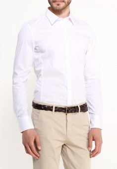 Рубашка, oodji, цвет: белый. Артикул: OO001EMJEG88. Одежда / Рубашки / Рубашки с длинным рукавом