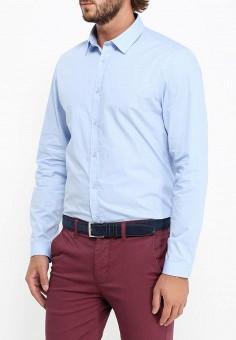 Рубашка, oodji, цвет: голубой. Артикул: OO001EMLAW45. Одежда / Рубашки / Рубашки с длинным рукавом