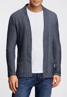 Кардиган, oodji, цвет: синий. Артикул: OO001EMLQG37. Одежда / Джемперы, свитеры и кардиганы / Кардиганы