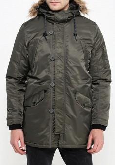 Куртка утепленная, oodji, цвет: зеленый. Артикул: OO001EMNDX47. Одежда / Верхняя одежда / Парки