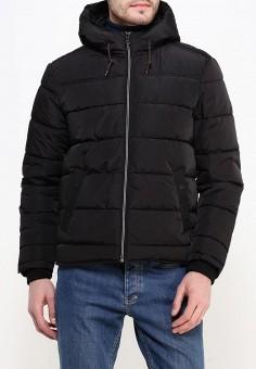 Куртка утепленная, oodji, цвет: черный. Артикул: OO001EMNWA33. Одежда / Верхняя одежда / Демисезонные куртки