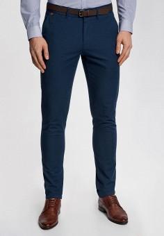 Брюки, oodji, цвет: синий. Артикул: OO001EMQPY88. Одежда / Брюки / Повседневные брюки